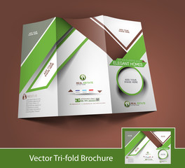 Vector Business Front Side Brochure Design Template