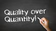 Quality over Quantity Chalk Illustration