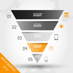 orange infographic reversed pyramid