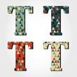 retro letter T
