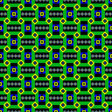 Seamless green ethnic pattern