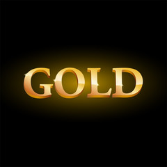 Vector logo golden word
