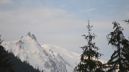 weather clearing on Aguille du Midi in Mont Blanc Range