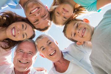 Smiling multi generation family