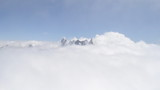 Grandes Jorasses above the clouds
