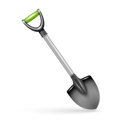 Garden spade, isolated on white background.