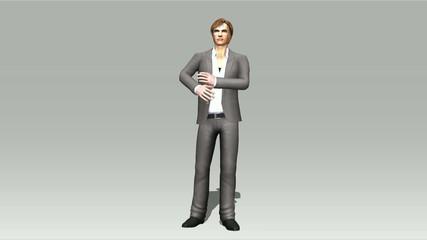 Animation of a posing Man