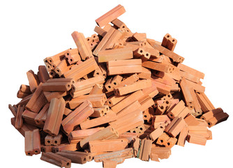 heap of red brick