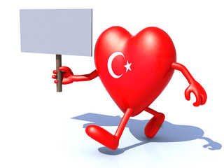 heart with arms and legs and turkey flag