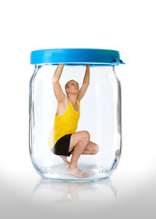 Man Prisoner in a Jar