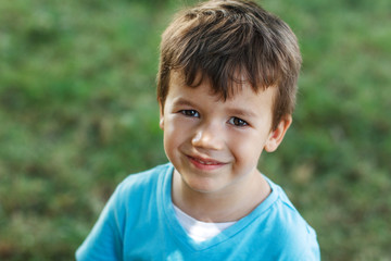 Little boy portrait smile