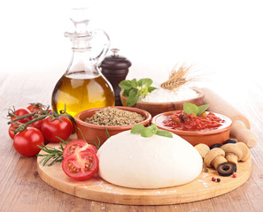 tomato basil flour oil for homemade pizza