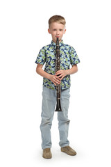 boy playing a clarinet