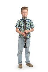 boy playing a clarinet