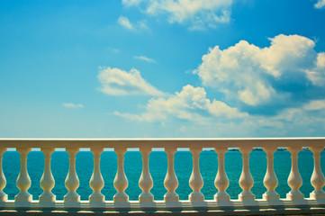 Balustrade on sea shore