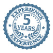5 Years Experience stamp