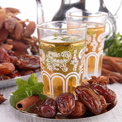 teacup with sweet dried date