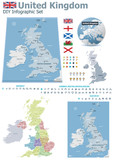 United Kingdom maps with markers