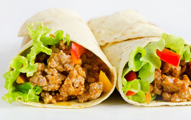 Fresh tortilla wraps
