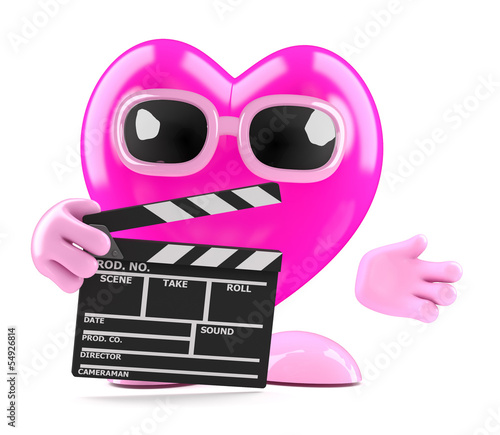 3d Heart works in the movies