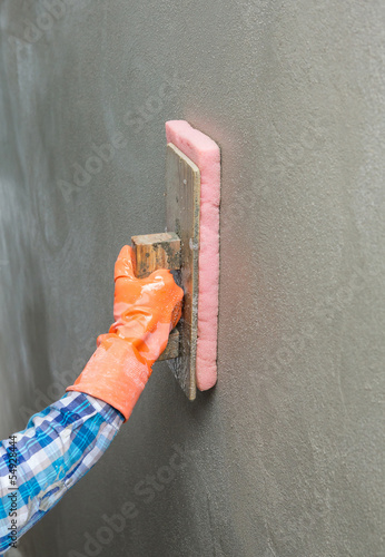 Concrete plaster cleaning