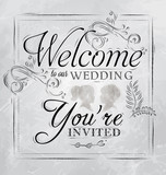 Wedding lettering Welcome to our wedding