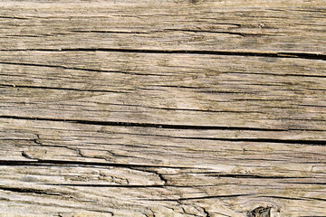 Dry wooden background damaged by weather