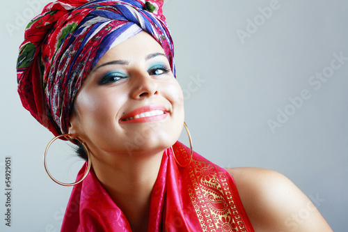woman in turban