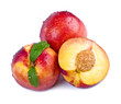 Ripe nectarines isolated on white