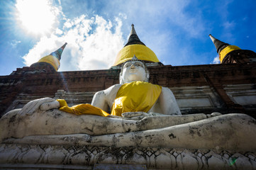 Wat Yai Chai Mongkhon, old buddhist temple of Ayuthaya Province