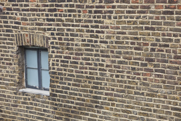Close-Up view of Brick Wall and window