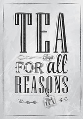 Poster Tea For all Reasons coal