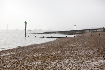 Shoreline at Southend, UK