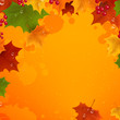Vector Illustration of a Colorful Autumn Background