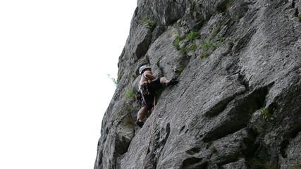 rock climber in Turzii Gorge Romania