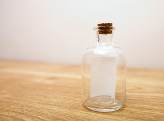 Glass bottle with note inside