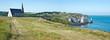 Panorama chapelle et falaise d'Etretat