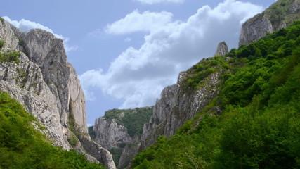 turzii gorge in romania time lapse shot