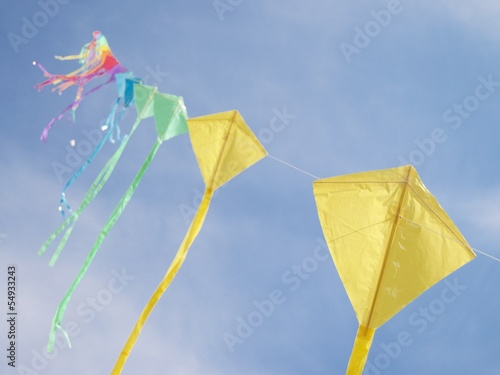 kite on blue sky backgroud