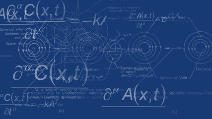 Quantum physics background blueprint
