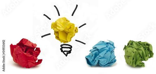 Idea concept, finding a solution