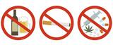 酒・たばこ・薬物禁止