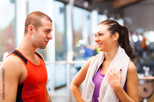People in a fitness club