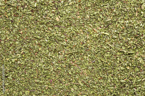 Oregano layer on table
