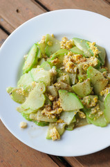 Stir-fried chayote with  eggs