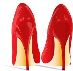 Scarpe rosse con tacchi a spillo