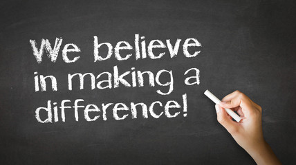 We believe in making a difference Chalk Illustration
