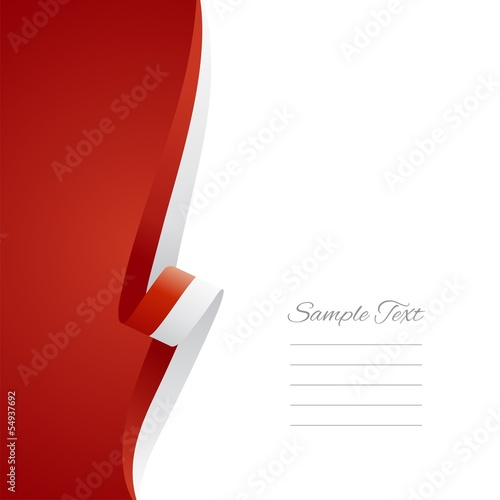 Indonesian left side brochure cover vector