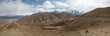 Panoramic view of the Friendship Road in Tibet