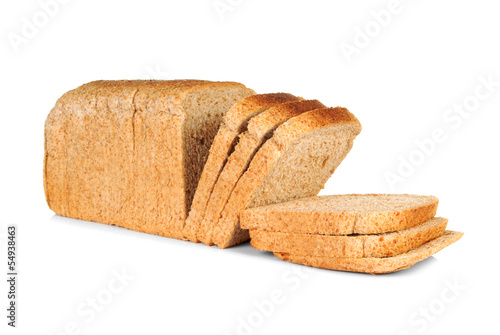 Whole wheat sliced bread
